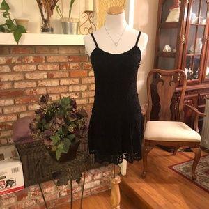 Alice+Olivia Black Floral Knit Dress
